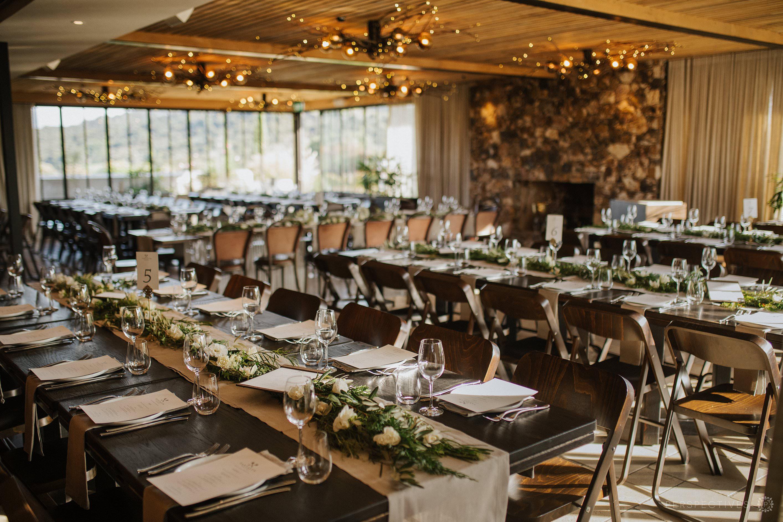 Reception room details Tantalus Estate wedding venue Waiheke