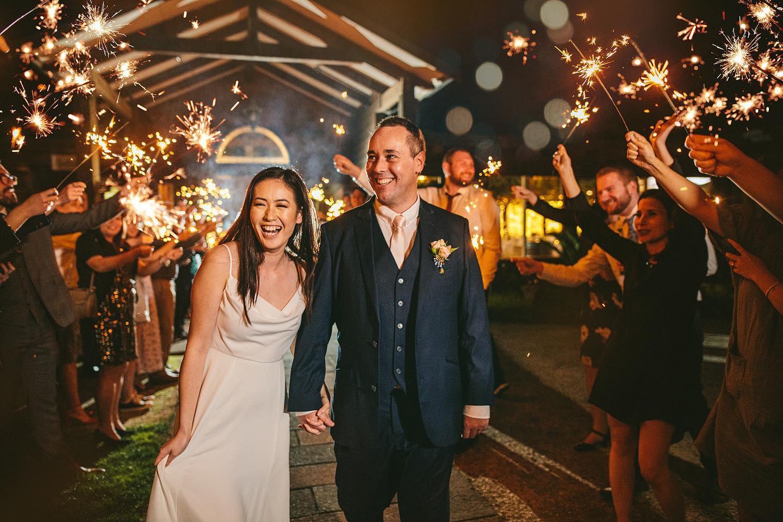 Sparkler Exit Markovina Wedding