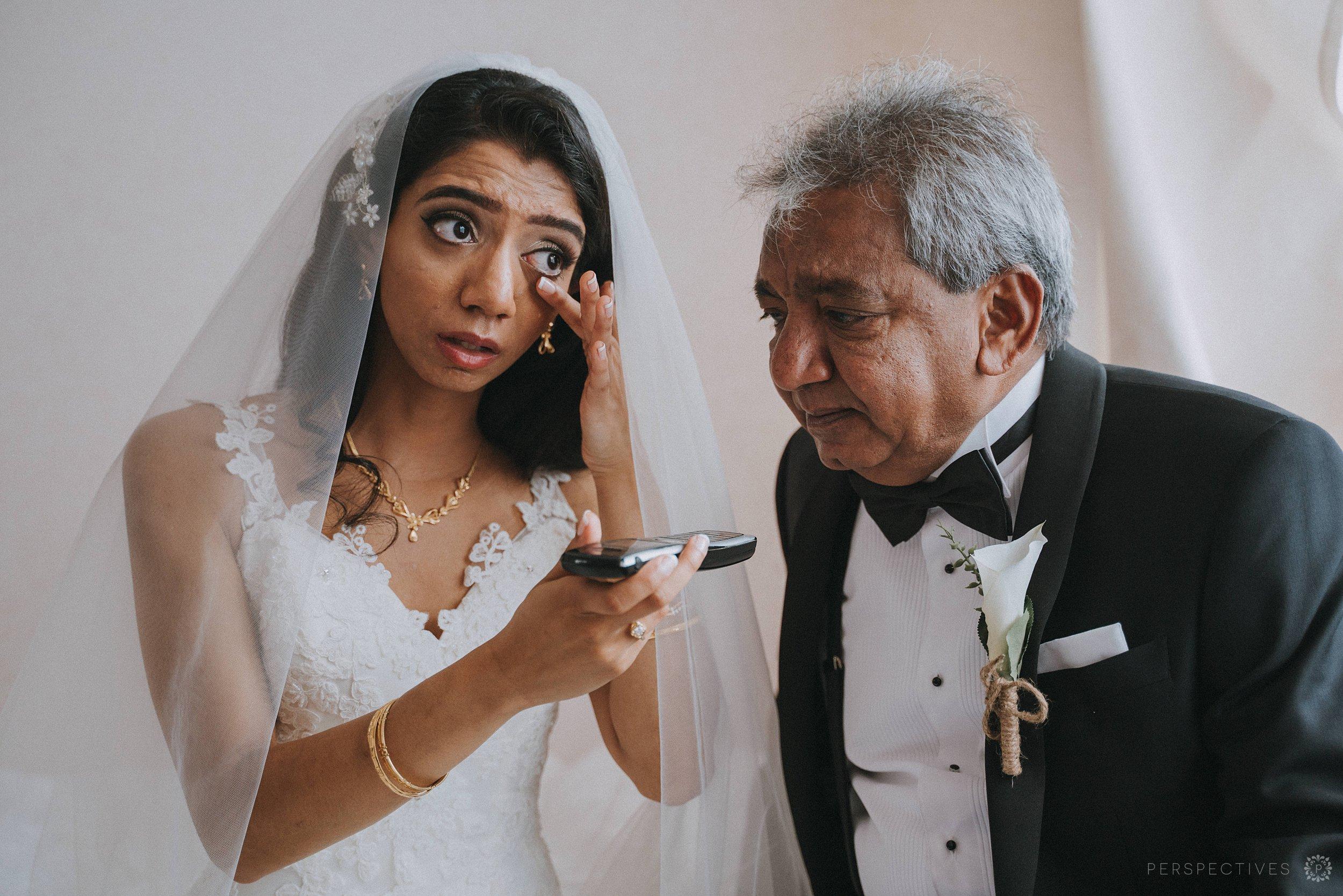 Bride with dad Auckland wedding