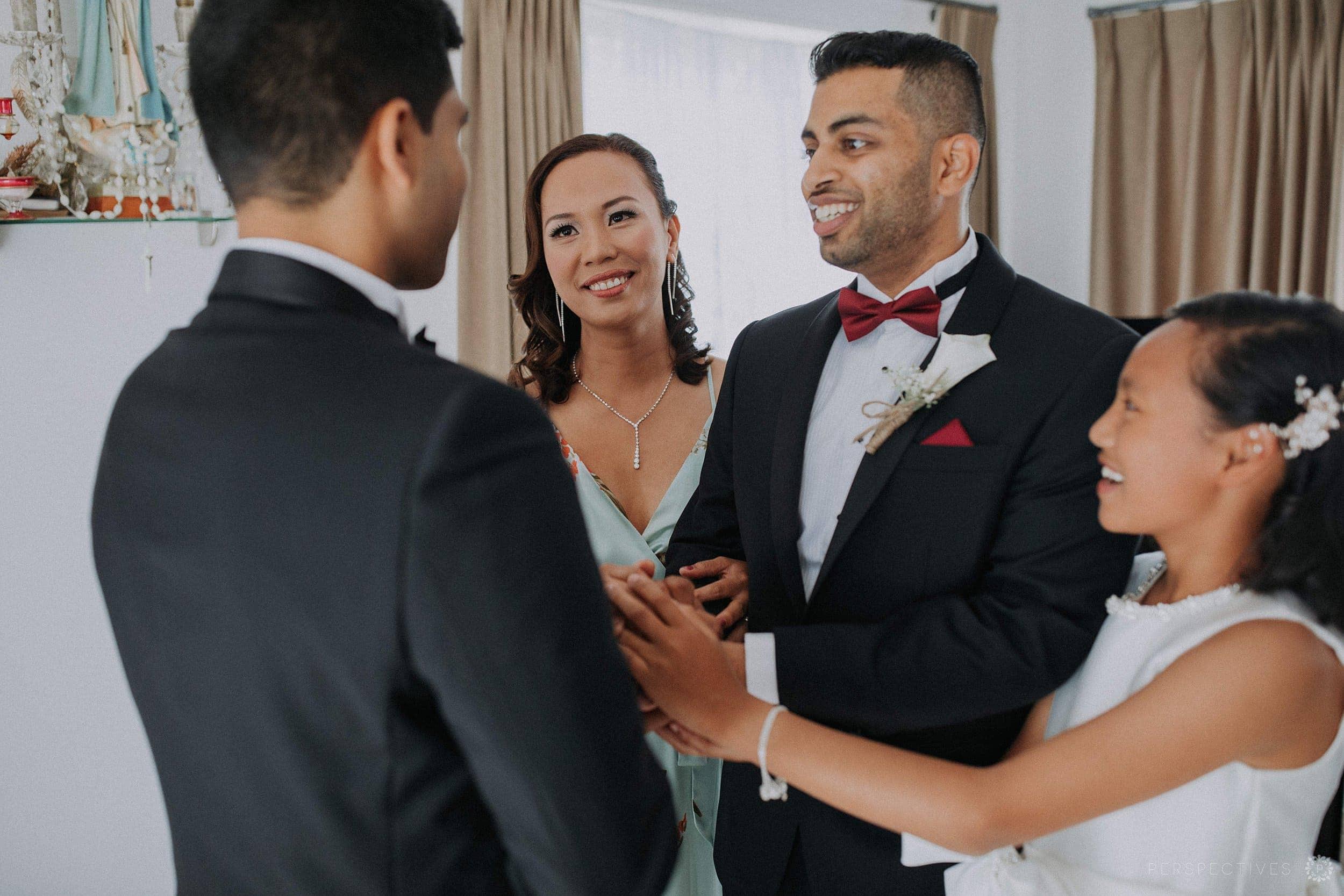 Groom getting ready Auckland wedding