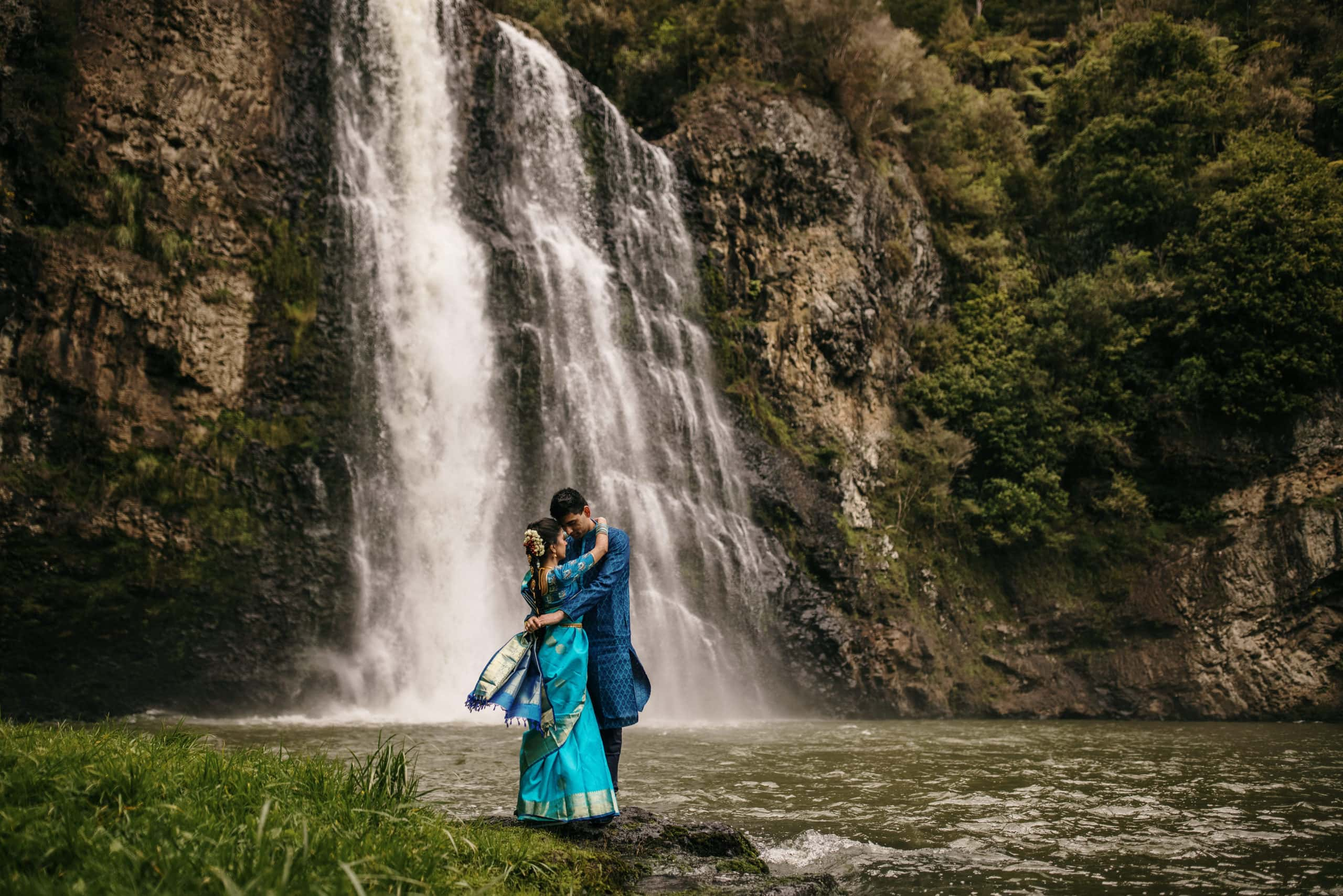 Hunua Falls camp wedding photos