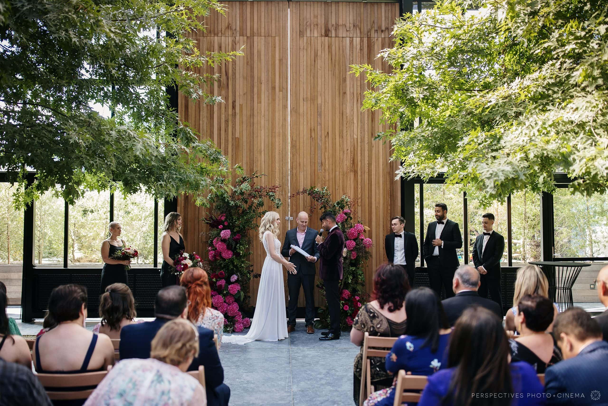 Glasshouse morningside wedding ceremony