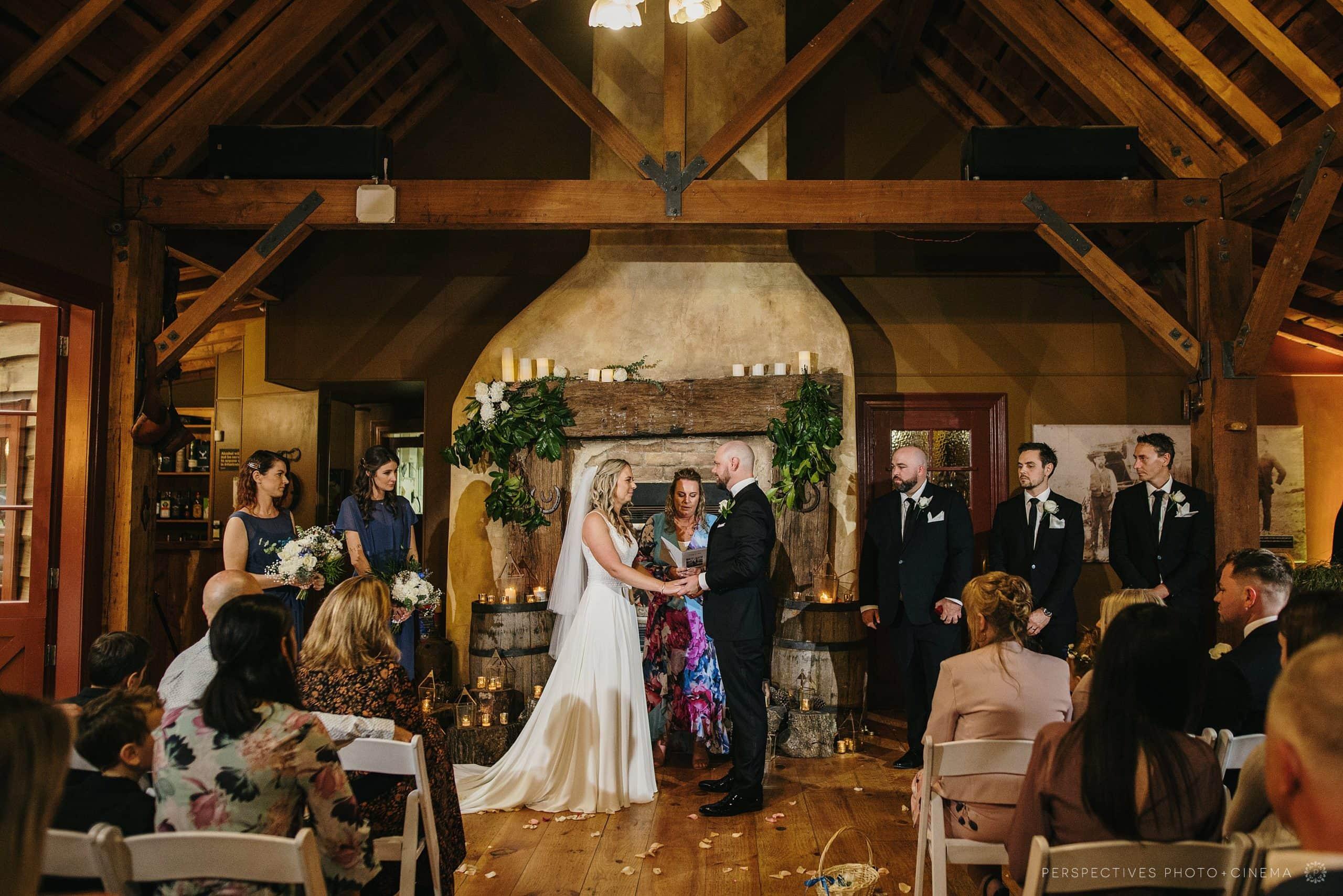 Kumeu Valley Estate winter wedding
